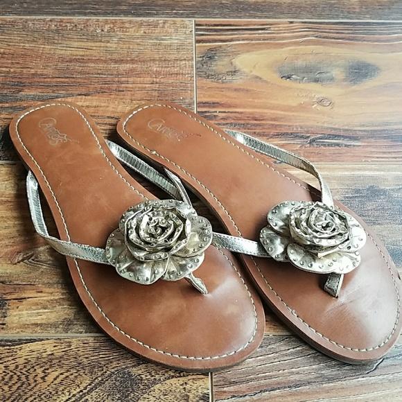 99d2ebe448b7 Carlos Santana Shoes - CLEARANCE Carlos gold sandals